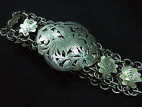 Straits Chinese Silver Belt and Buckle