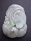 Jade Carving of Fish and Dragon Fish Pendant