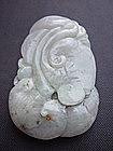 Jade Carving of Fish and Dragon Fish Pendant