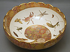Japanese Satsuma bowl with insect motif