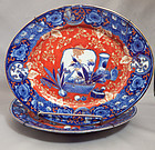 Pair of Meiji Period Oval Form Imari Trays
