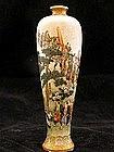 Satsuma vase with classic Kinkozan processional motif