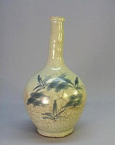 KOREAN EARLY 19TH C. BLUE AND WHITE VASE