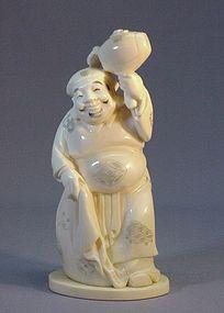 JAPANESE IVORY OKIMONO OF DAIKOKU