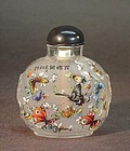 CHINESE GLASS INSIDE PAINTING SNUFF BOTTLE