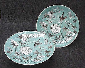 CHINESE QING DYNASTY PORCELAIN FRUIT STANDS