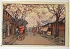 Japanese Woodblock print by Yoshida Hiroshi