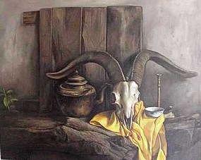 Chinese Oil Painting by ZHANG SHUANG-ZHU