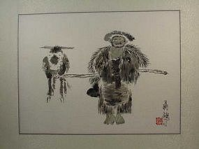 Chinese Brush Painting by NIE OU