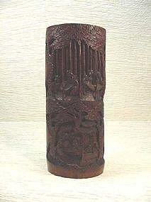 Chinese Carved Bamboo Brush Holder