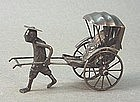 CHINESE EXPORT STERLING SILVER CART