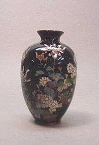 LATE 19TH CENTURY JAPANESE CLOISONNE VASE