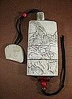 LATE 19TH CENTURY JAPANESE CARVED BONE INRO