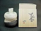 Contemporary white glazed tokkuri by Ishii Takahiro