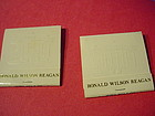 (2) Ronald Reagan Matchbooks w/Presidential Seal