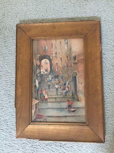 Naples Print~1903~ Salvatore Petruolo (1857-1946)