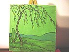 ROBINSON Art Tile Signed~  H. Heinly