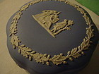 Wedgwood Blue Jasper  Box ~Classical Motif