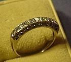 14k WG Diamond Anniversary Ring ~35Pts