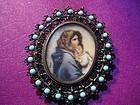 European Silver Miniature Madonna Portrait