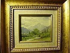 European Watercolor ~ Swiss  Alpine Scene