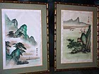 Two (2) Japanese Watercolor Prints on Linen