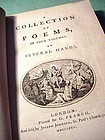 A Collection of Poems by Several Hands in 4 Volumes ~1775