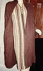 "70""s MISSONI Brown Wool Coat w/Matching Dress 38"