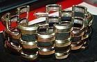 RETRO Bi-Color Gold Filled Brick Bracelet