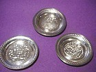 Three Small Silver Egyptian Dishes