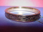 10kGF Taille D'Epargne Chased Bangle~ Dunn Bros. Child's Bangle