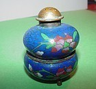 Chinese Cloisonne Salt + Pepper Shaker
