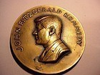 John Fitzgerald Kennedy Inaugural Bronze Paperweight 1961 ~Signed