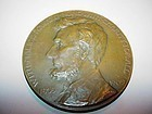 Lincoln GAR 100th Yr. Commemorative Bronze Medal ~ 1909 ~SIGNED