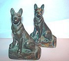 Bronze German Shepard Book Ends