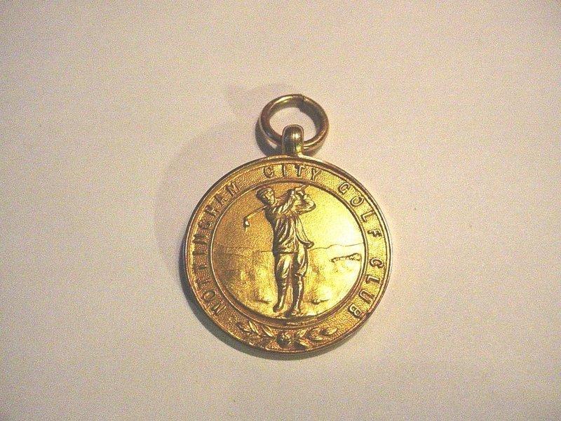 15K Gold Nottingham City Golf Medal~ 1926