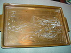 1934 World's Fair Chicago Etched Copper Tray~ Birds Eye View