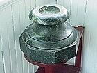 Octagonal Green Marble Pedestal Base~ 35 lbs.