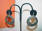 Ornate Sterling  Hoop Earrings ~ Bali