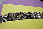 TAXCO Sterling Panel Bracelet