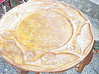 Carved Mahogany Coffee Table ~ Haiti