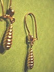 18k Gold Pendant Earrings~ 2Gr