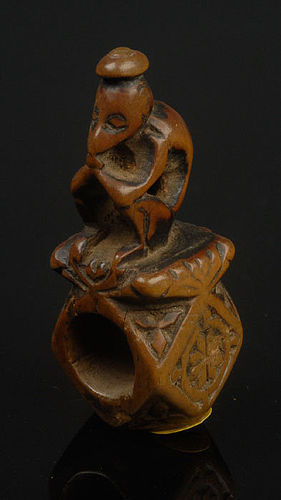 Antique Chinese Pipe Ornament