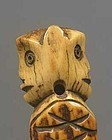 Antique Horn with Monkey Heads