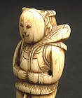 Antique Chinese Ivory Toggle of Male Baby