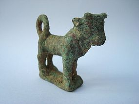 A MESOPOTAMIAN BRONZE FIGURE OF A BULL CALF