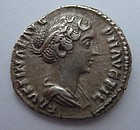 A ROMAN SILVER DENARIUS OF FAUSTINA THE YOUNGER