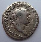 A ROMAN SILVER DENARIUS OF TITUS