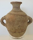 A CANAANITE TERRACOTTA DECORATED JUG