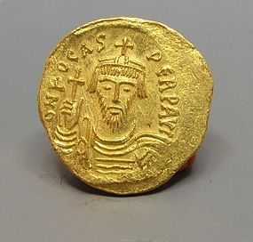 A BYZANTINE GOLD SOLIDUS OF PHOCAS